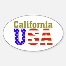 California USA Oval Decal