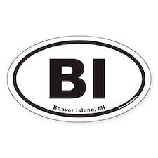 Beaver Island BI Euro Oval Decal
