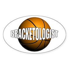 Bracketologist - Oval Decal