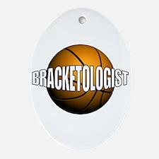 Bracketologist - Oval Ornament