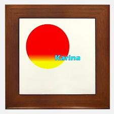 Karina Framed Tile