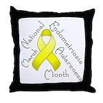 Endometriosis Month Throw Pillow