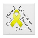 Endometriosis Month Tile Coaster