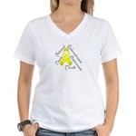Endometriosis Month Women's V-Neck T-Shirt