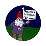Gnomes for Obama Xmas Ornament