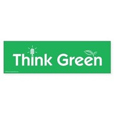 Think Green Bumper Car Sticker
