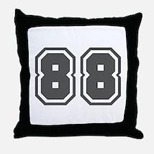 Number 88 Throw Pillow