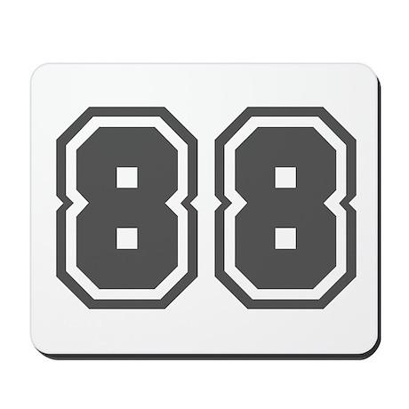 Number 88 Mousepad By Keepsake Arts