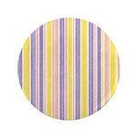"Pink, Purple, Yellow Stripe 3.5"" Button (100 pack)"