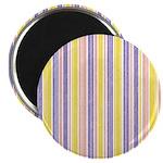 "Pink, Purple, Yellow Stripe 2.25"" Magnet (10 pack)"