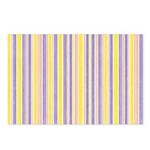 Pink, Purple, Yellow Stripe Postcards (Pack of 8)