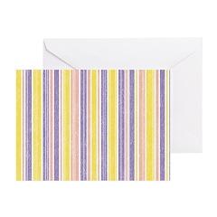 Pink, Purple, Yellow Stripe Greeting Cards (Pk of