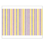 Pink, Purple, Yellow Stripe Small Poster