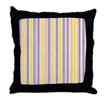 Pink, Purple, Yellow Stripe Throw Pillow