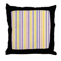 Pink, Purple, Yellow Stripe Throw Pillow