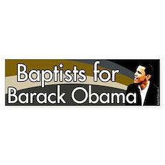 Baptists for Barack Obama bumper sticker