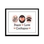 Peace Love Cockapoo Framed Panel Print