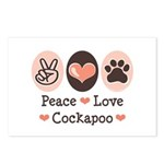 Peace Love Cockapoo Postcards (Package of 8)