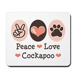 Peace Love Cockapoo Mousepad