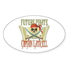 Captain Latrell Oval Decal