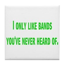 bands Tile Coaster