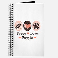 Peace Love Puggle Journal