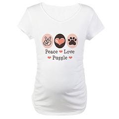 Peace Love Puggle Shirt