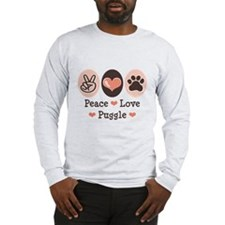 Peace Love Puggle Long Sleeve T-Shirt