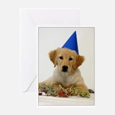 SNAPshotz Golden Puppy Birthday Greeting Card
