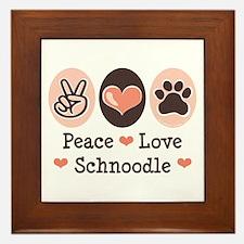 Peace Love Schnoodle Framed Tile