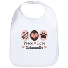 Peace Love Schnoodle Bib