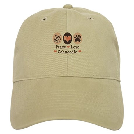 Peace Love Schnoodle Cap