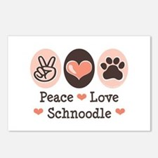 Peace Love Schnoodle Postcards (Package of 8)