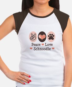 Peace Love Schnoodle Women's Cap Sleeve T-Shirt