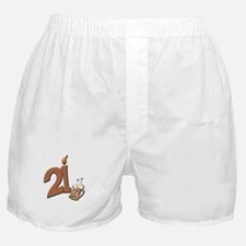 21st birthday candle & beer Boxer Shorts