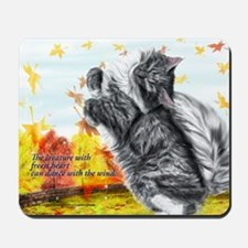 Freest heart skogkatt catch the Mousepad