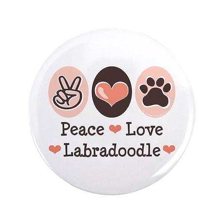 "Peace Love Labradoodle 3.5"" Button (100 pack)"