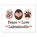 Peace Love Labradoodle Small Poster