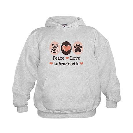Peace Love Labradoodle Kids Hoodie