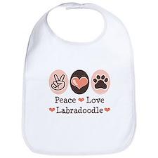 Peace Love Labradoodle Bib
