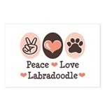 Peace Love Labradoodle Postcards (Package of 8)