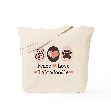 Peace Love Labradoodle Tote Bag
