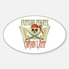 Captain Latif Oval Decal