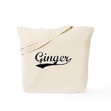 Vintage Ginger (Black) Tote Bag