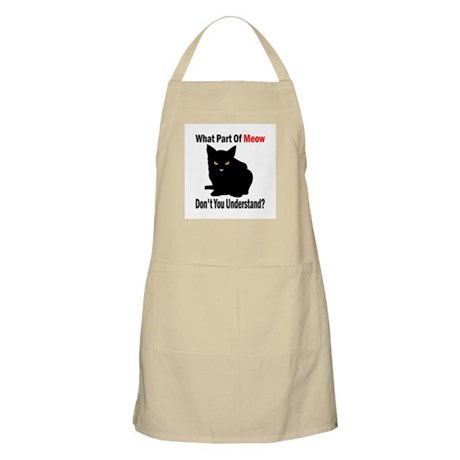 What Part Of Meow BBQ Apron