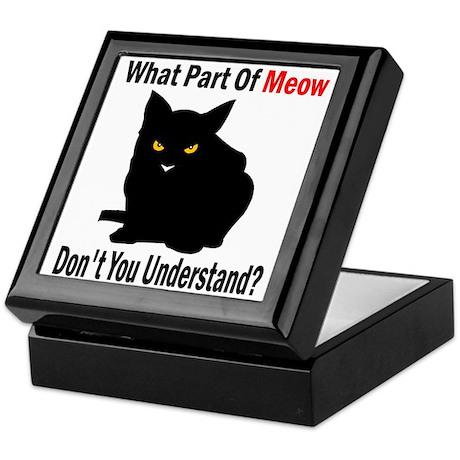 What Part Of Meow Keepsake Box