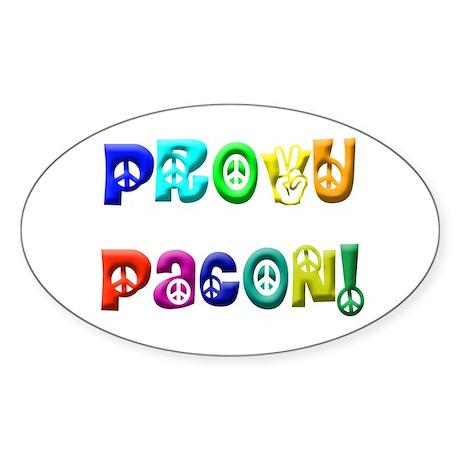 Try Peace Oval Sticker