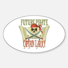 Captain Larry Oval Decal