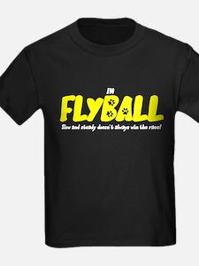In Flyball Kids Black TShirt