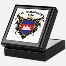 Number One Cambodian Dad Keepsake Box